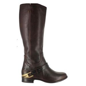 UGG Channing II chocolate tall leather riding boot